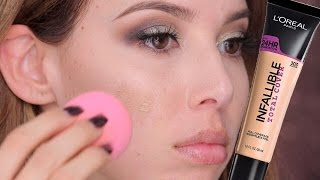 L'Oreal Infallible Total Cover: FIRST IMPRESSION, SWATCHES, APPLICATION | LUSTRELUX