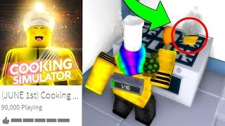 ROBLOX COOKING SIMULATOR *FIRST GAMEPLAY!*
