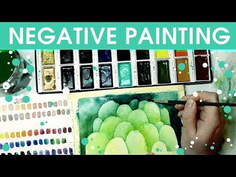 Let's Try Negative Painting - Watercolour Experiments