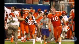 Clemson celebrates after beating Oklahoma in the Orange Bowl