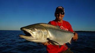 Salmon Jigging 2015 Great Lakes