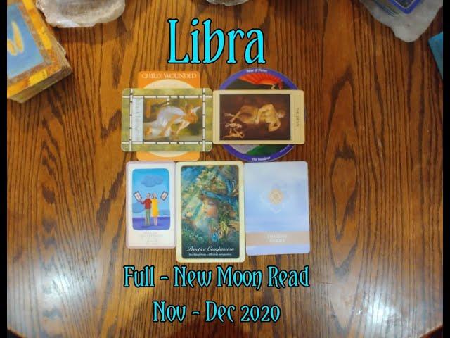 LIBRA: FULL - NEW MOON 7 CARD DRAW= IDEAS + INSPIRATION + PRACTICE COMPASSION + NOV-DEC 2020