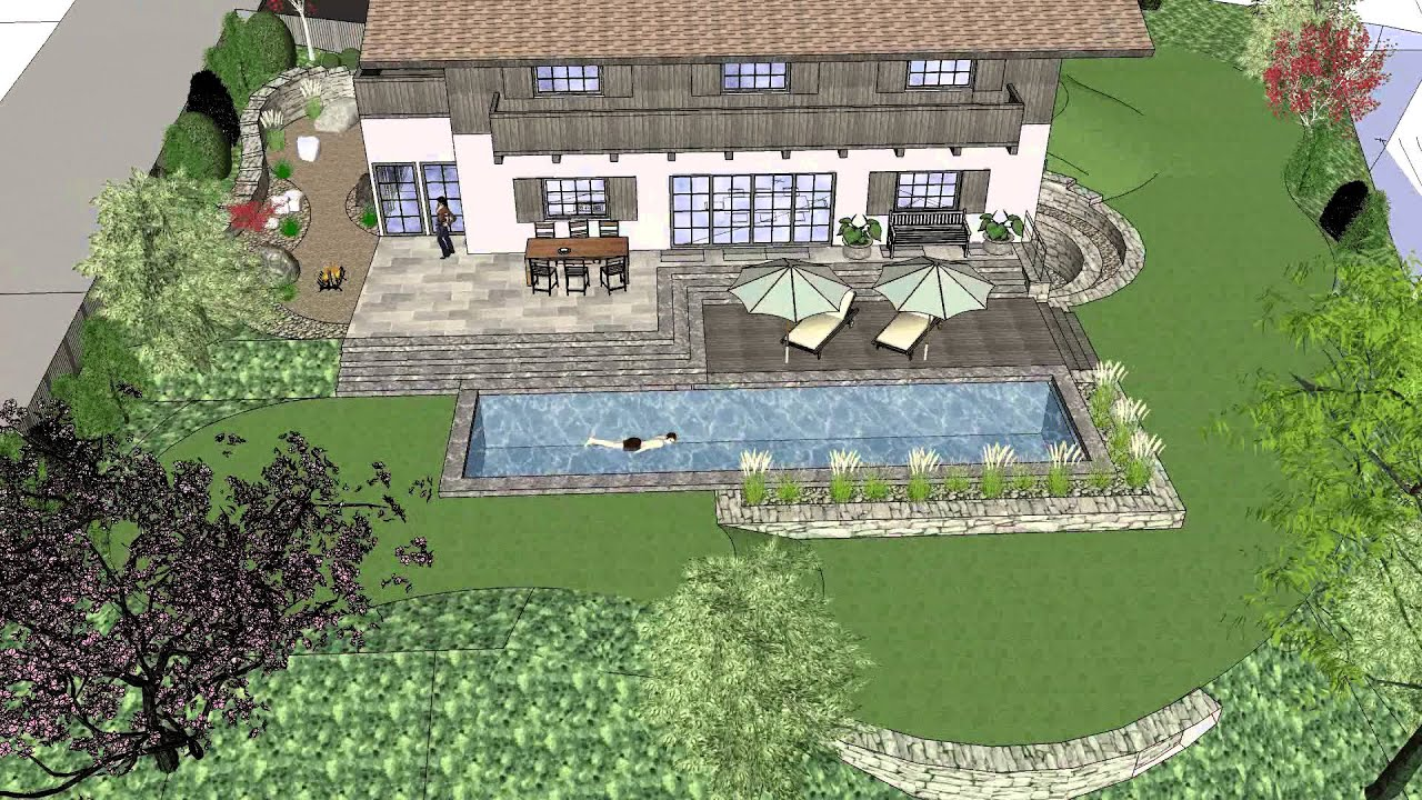 Sketchup Garden 3d test YouTube