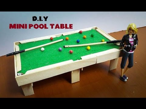 DIY Kid Toys   How To Make Mini Pool ( Billiard ) Table.   YouTube