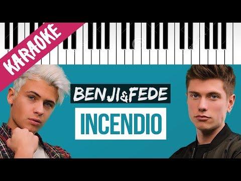 Benji & Fede   Incendio // Piano Karaoke con Testo