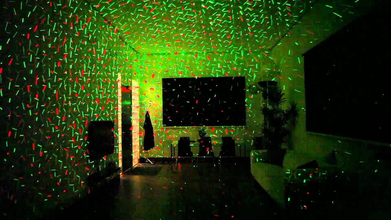 Christmas Laser Light - YouTube
