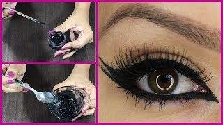 வீட்டிலே GEL EYELINER( கண் மை) செய்வது எப்படி?   how to make Kajal / gel eyeliner