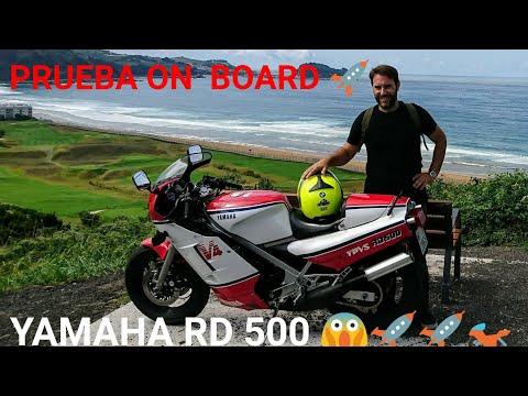 YAMAHA RD 500 ON BOARD TEST | Motodiógenes Rider | Paseo Zarautz-Getaria, playa y Karlos Arguiñano