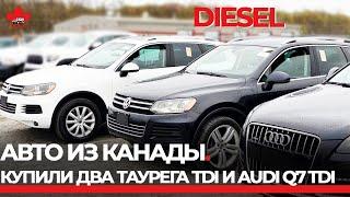 Авто из Канады. Купили  три авто. 2 дизельных Touareg TDI и 1 AUDI Q7 TDI. От аукциона до контейнера