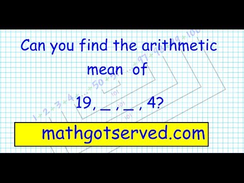 al2 sequences and series finding the arithmetic mean