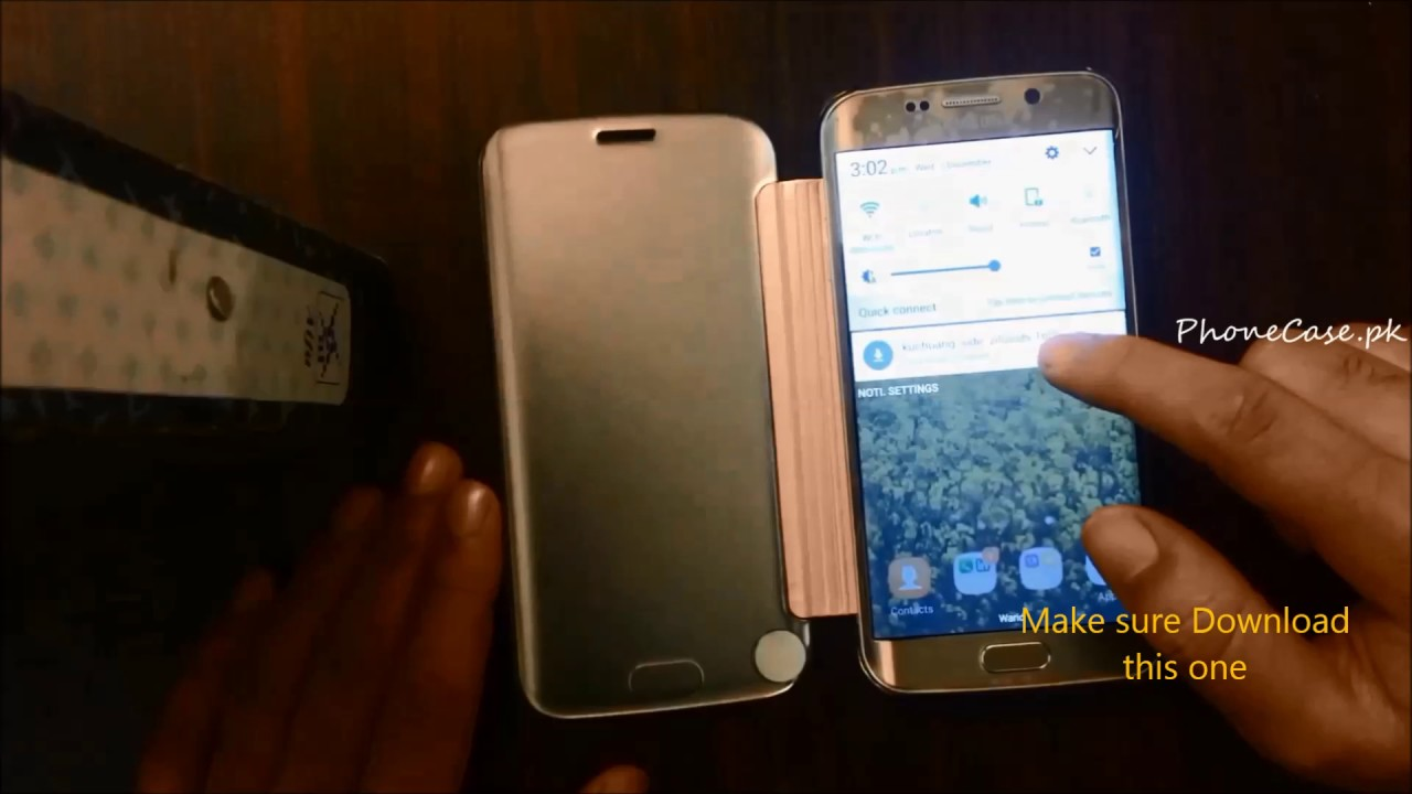 new product b802b bb4cb samsung Mirror flip case Review video installation of k view app