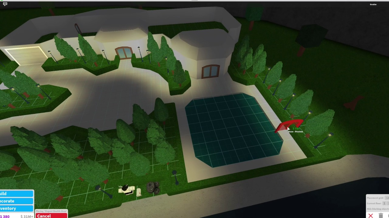 Roblox Bloxburg 100000 House build Tutorial  One floor  YouTube