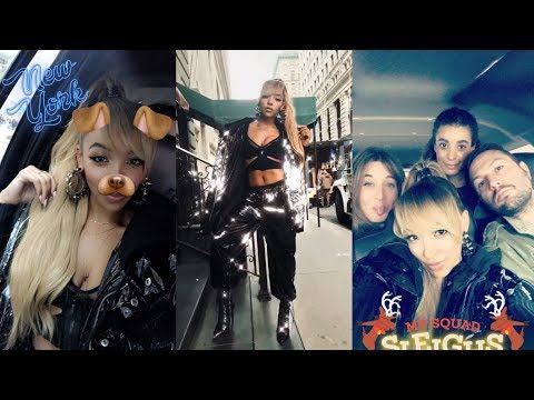Tinashe | Snapchat Story | 5 December 2017 [ Karaoke Night w/ Friends ]