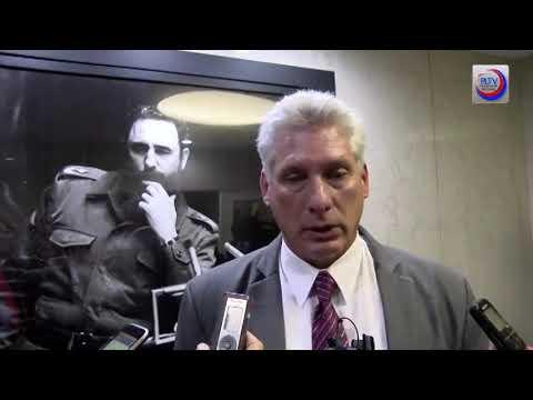 Presidente de Cuba, Miguel Díaz-Canel, por primera vez en ONU
