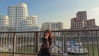 Germany. Unusual Gehry Buildings Dusseldorf. Round the World Trip, 30
