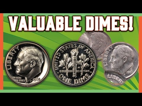 RARE DIMES WORTH MONEY - ROOSEVELT ERROR COINS!!