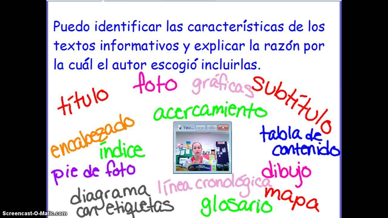 caracteristicas de los textos informativos youtube
