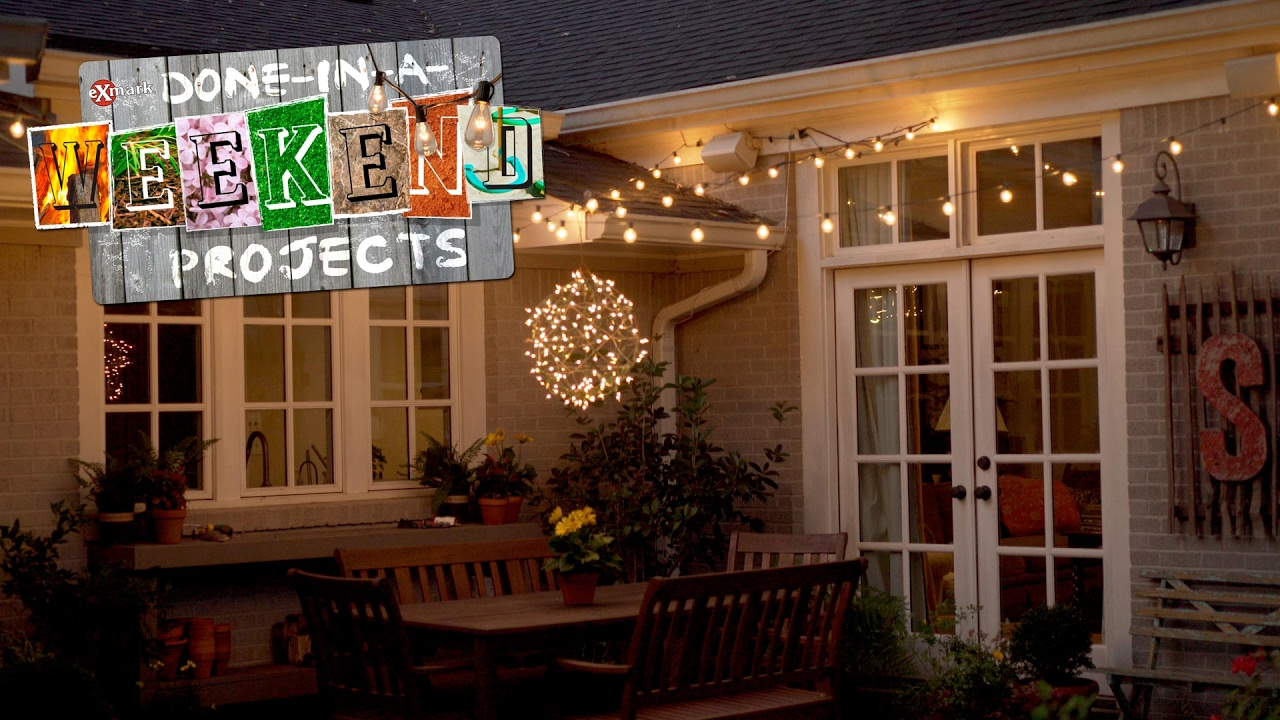 Light Up Your Life: How To Add String Lights To Your Yard   YouTube
