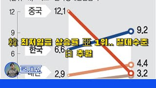 韓 최저임금 상승률 亞 1위.. 절대수준 日 추월 - …