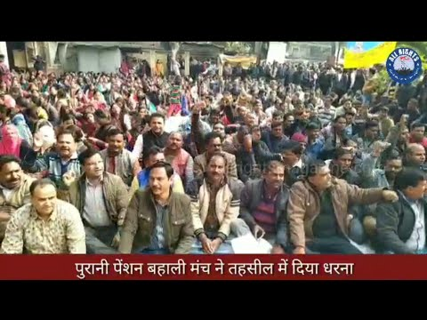 Bareilly News : पुरानी पेंशन बहाली मंच ने तहसील में दिया धरना
