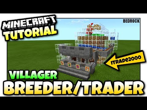 Minecraft - AUTOMATIC VILLAGER BREEDER & TRADING POST [ Redstone Tutorial ] MCPE / Xbox / Bedrock