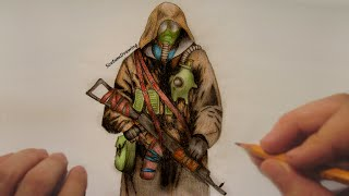 S.T.A.L.K.E.R. Clear Sky - Speed Drawing - Timelapse(Speed drawing of a character from the S.T.A.L.K.E.R. Clear Sky game. (How to draw) You can see on my channel all kind of timelapse videos of my drawings I ..., 2015-09-18T16:57:59.000Z)