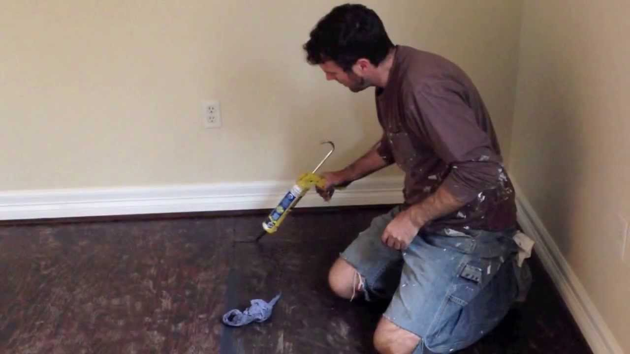 How To Finish A Plywood Subfloor Youtube