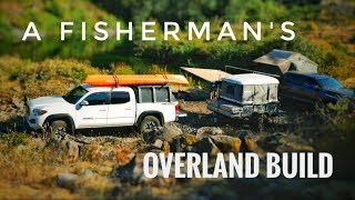 A Kayak Fisherman's Custom Overland Build - Truck and Camp Trailer Rig Walkaround
