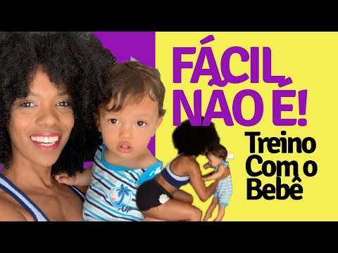 Aventura do TREINO EM CASA COM UM BEBÊ l Tati Sacramento thumbnail