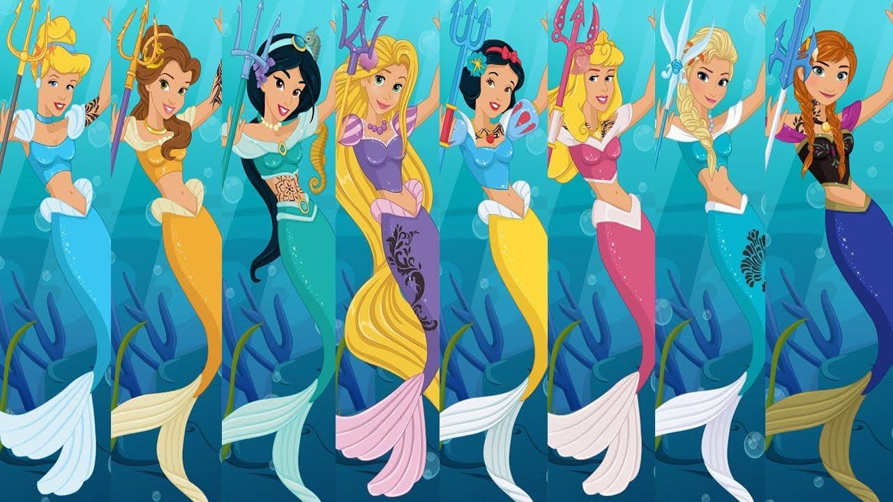 Dress up princess games - Ariel Mermaid Dress Design Disney Princess Games For Kids 2016 Youtube
