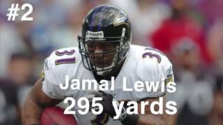 TOP 3 most rushing yards in a NFL game!!
