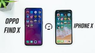 Speedtest Oppo Find X vs iPhone X