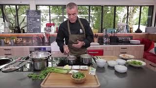 Recette bio : Filet mignon de porc, crème de lard, carottes à la bretonne