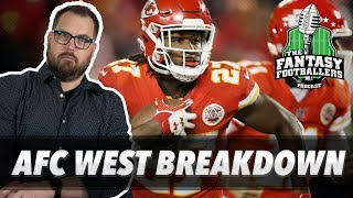 Fantasy Football 2018 - AFC West Breakdown, Melvin Gordon, and a Pink Moose - Ep. #570
