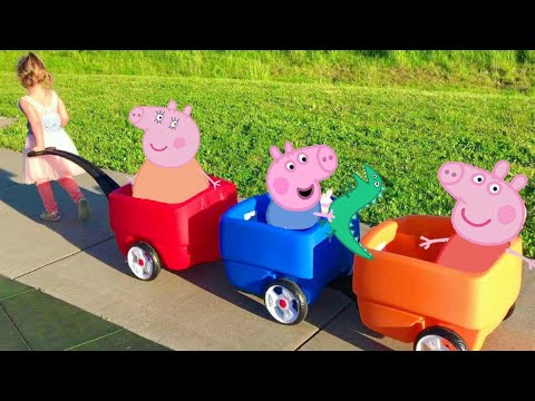 Thumbnail: Peppa Pig Three Little Pigs Nursery Rhyme Song / Story | Babies, Toddlers, Children, Kids Video