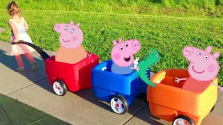 Peppa Pig Three Little Pigs Nursery Rhyme Song / Story | Babies, Toddlers, Children, Kids Video