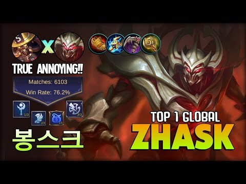6K++ MATCH Zhask Is Real!! No One Can Stop Him! 봉스크 Top 1 Global Zhask ~ Mobile Legends