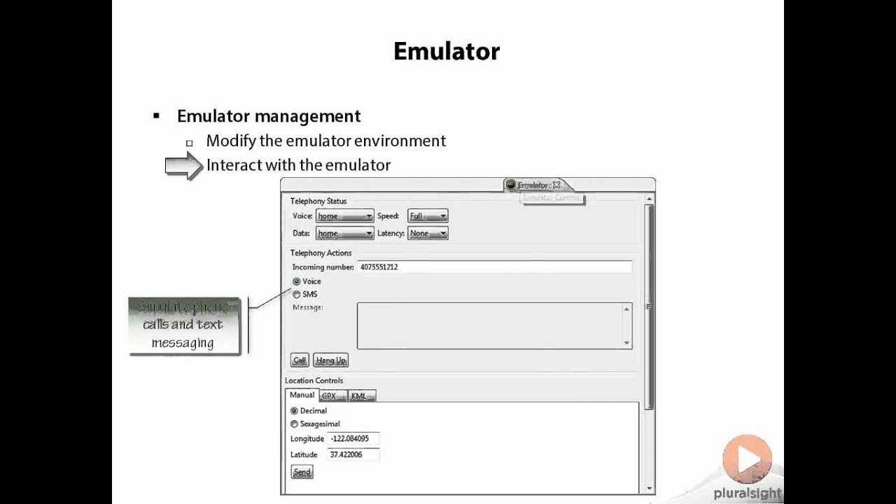 04 Dalvik Debug Monitor Server (DDMS) 08 Emulator control