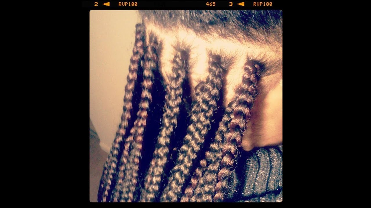 How I complete a single box braid weave extensions - YouTube