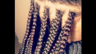 how i complete a single box braid weave extensions