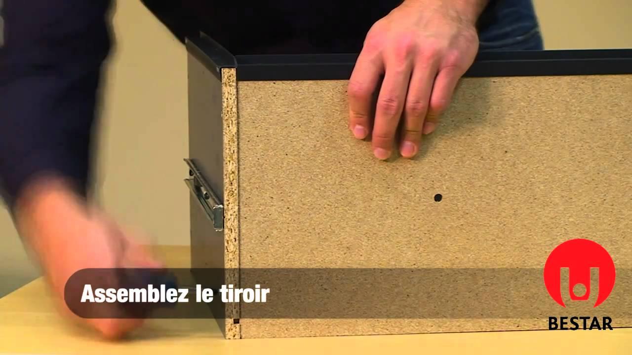 assemblage des tiroirs youtube. Black Bedroom Furniture Sets. Home Design Ideas