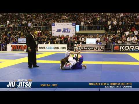 European Open 2015 Black Belt Female Open Class SEMI FINALS: MacKenzie Dern vs. Dominyka Obelenyte