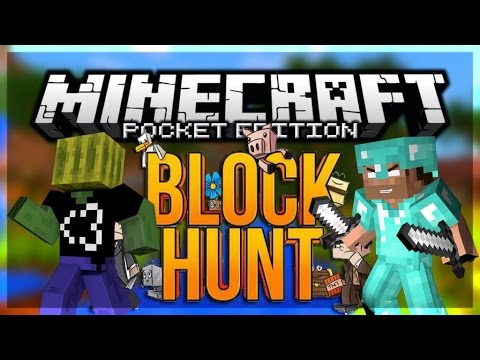 HIDE N SEEK in MCPE - BLOCKHUNT Minigame SERVER for Minecraft PE (Pocket Edition)