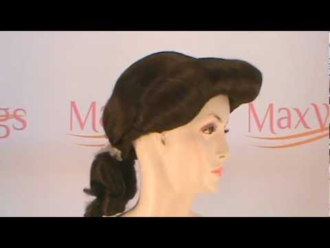 How To Create Belles Hairstyle From Beauty And The Beast : 360° view belle beauty and the beast costume wig youtube