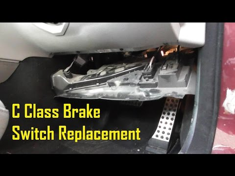 Mercedes C Class W204 ESP Brake Switch Replacement Guide ...