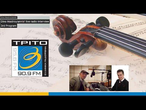 Dino Mastroyiannis live radio interview-ERT 3rd Program-Greece