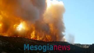 Η φωτιά από τον Καρέα στο Σέσι Κορωπίου, Υμηττός