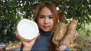 How To Cook Desserts Fresh Potatos - Beautiful Girl Cooking - Village Food Factory My Country