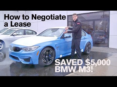 How to SAVE $5,000 on a Lease: BMW M3