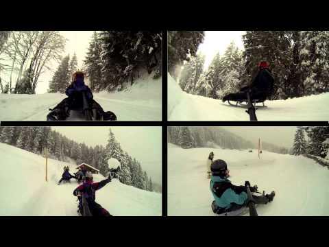 Switzerland 2014/2015 Tobogganing in Wengen Le Poidevin Family